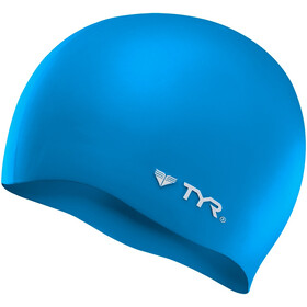 TYR Silicone Cap No Wrinkle blue